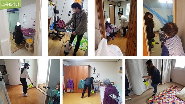 [서비스제공팀] 코로나19 대응 어르신가정 방역지킴이 활동 이미지